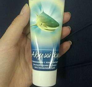 Внешний вид крема Акулий жир для суставов